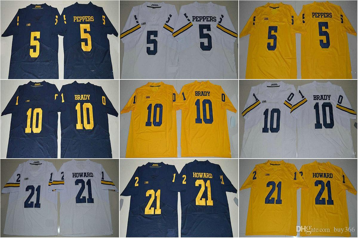 2019 Michigan Wolverines College Football Jersey 5 Jabrill Peppers Jersey  21 Desmond Howard 10 Tom Brady 4 Jim Harbaugh 2 Charles Woodson From  Buy366 2b9570d98