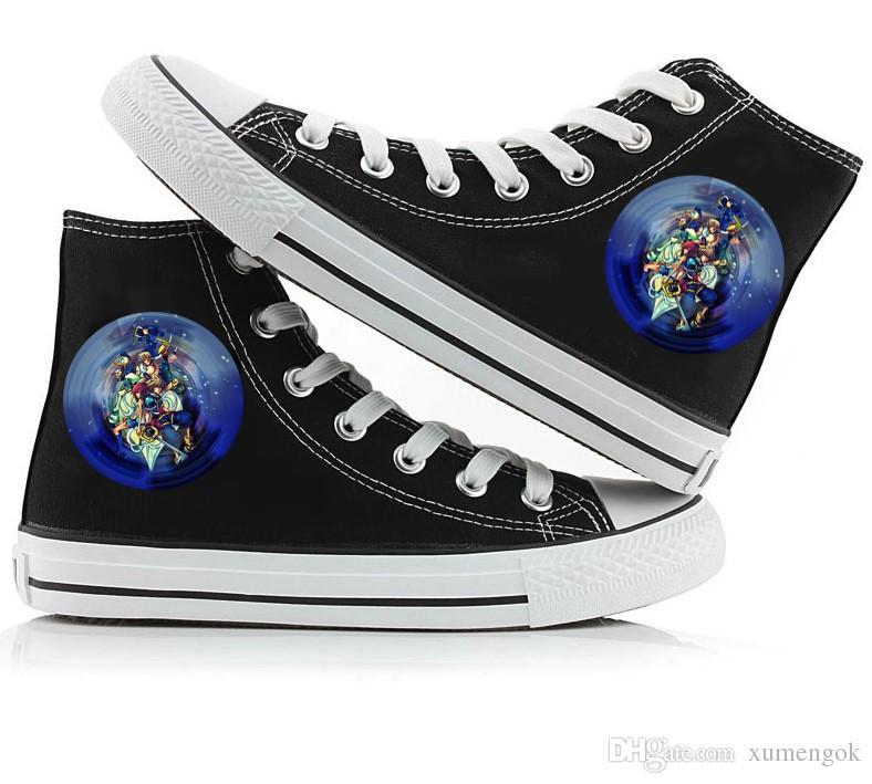 Großhandel Kingdom Hearts High Top Canvas Schuhe Turnschuhe ...