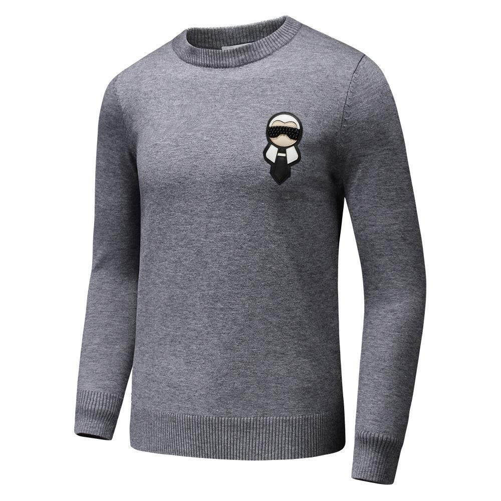 8f0b63fb54ee6f 2019 Hot Sale Autumn Spring High Quality Cashmere Fashion Badge Men Sweater  With Cartoon People Printed Men S Casual And Personality M XXXL From  Zy100862