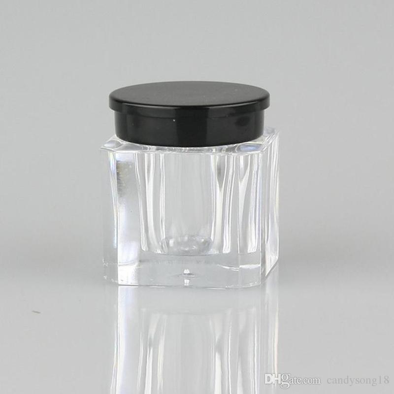 Simpatico vasetto quadrato in polvere campioni 3.5g mini in polvere cosmetici Custodia piccola in plastica contenitori portatili F454