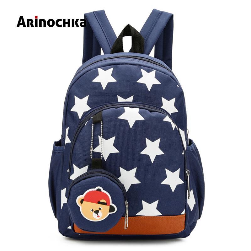 1c269e004334 Cute Boys Backpacks for Kindergarten School Book Bags Stars Printing Plecak  Szkolny Children Kids for Baby Girls Escolar