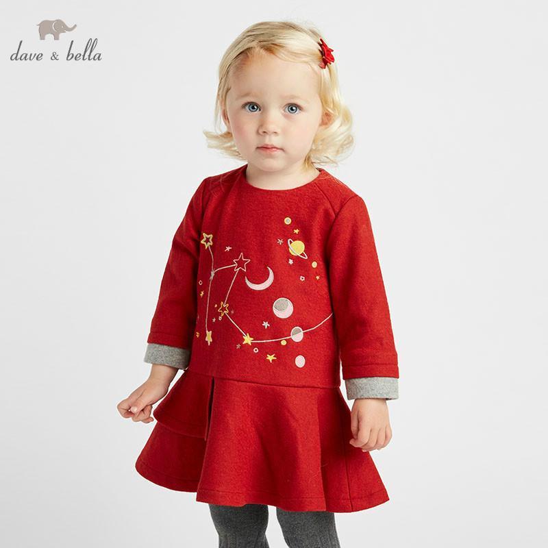 Acquista DB8420 Dave Bella Autunno Bambino Abito Di Lana Ragazze Abiti Di  Natale Infantile Bambino Di Alta Qualità Vestiti Bambini Lolita Dress A   123.88 ... f78d3db45af