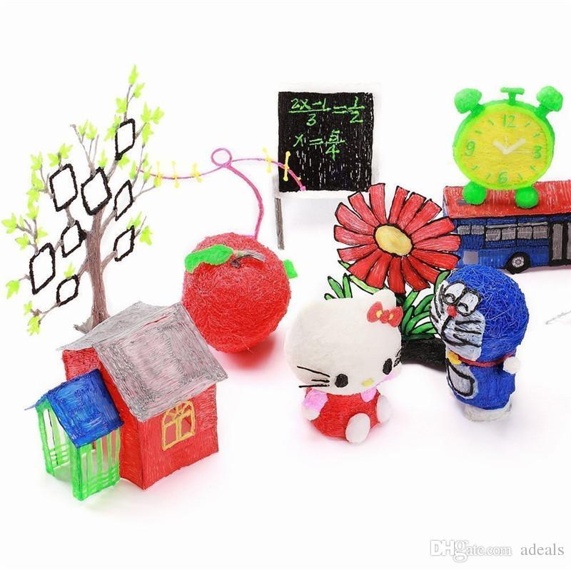 1.75mm ABS / PLA DIY Impresión 3D Pluma LED / Pantalla LCD 3D Pluma Pintura Pluma Filamento Regalo de Juguete Creativo Para Niños Diseño dibujo