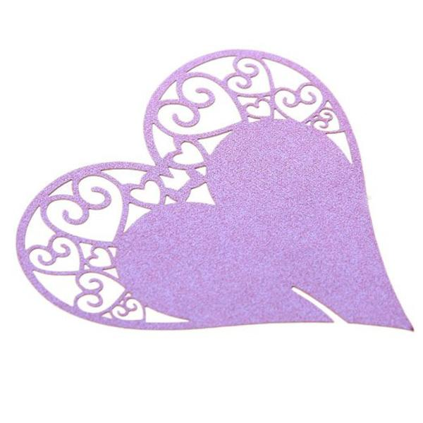 Wine Glass Cards Love Heart Name Place Cards Table Cards Wedding Party Decoration Hot Sale New Arrival