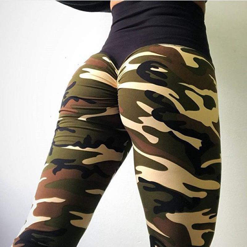 Acheter Taille Haute Sport Yoga Pantalon Femmes Camouflage Imprimé Gym Leggins  Sport Femmes Fitness Vêtements De Sport Collants Pantalons Jogging Femme De  ... 9583f757610