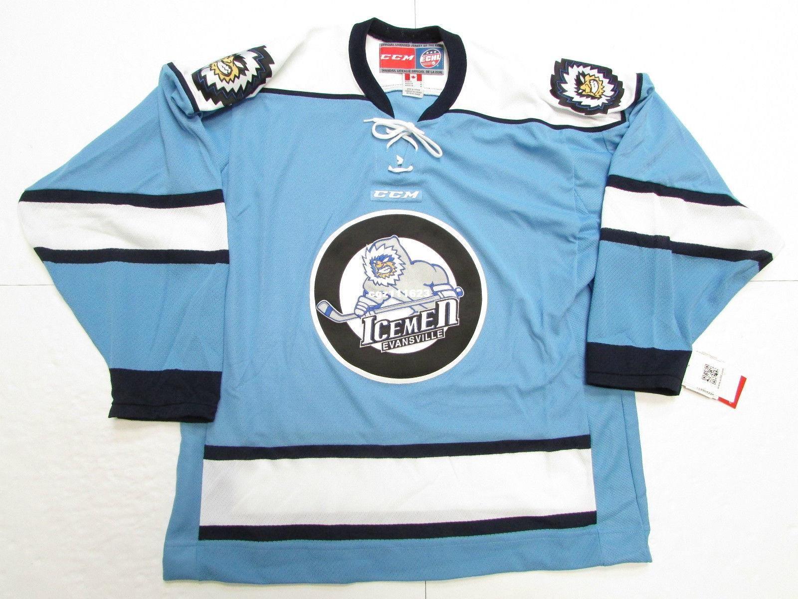 Cheap Custom EVANSVILLE ICEMEN BLUE ECHL CCM HOCKEY JERSEY Mens Jerseys CCM  Hockey Jersey Hockey Jersey Retro Hockey Jersey Online with  65.58 Piece on  ... cce23cf0e