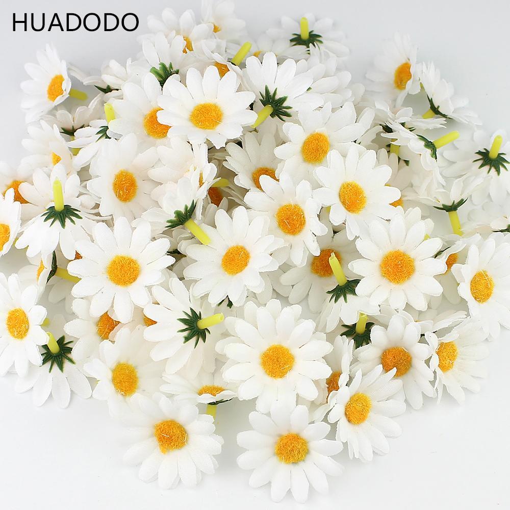 2018 huadodo 4cm white daisy flower artificial silk flowers 2018 huadodo 4cm white daisy flower artificial silk flowers scrapbooking party wedding decoration home decor wedding flowers from homegarden izmirmasajfo