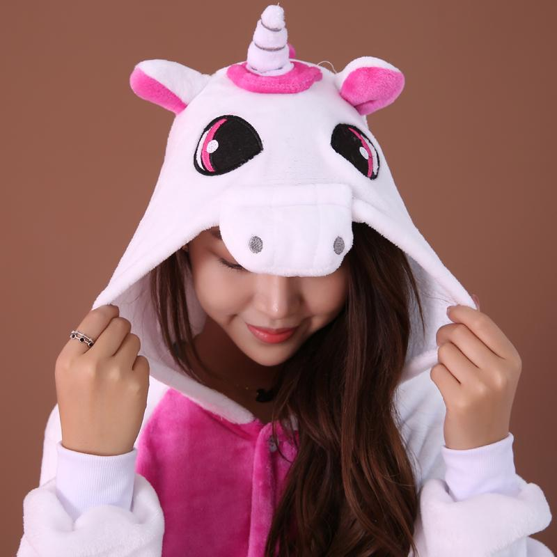 Autumn Winter Unicorn Pajama Sets Cartoon Sleepwear Women Pajama Flannel Animal Pajama Unicorn Halloween onesie Home clothing