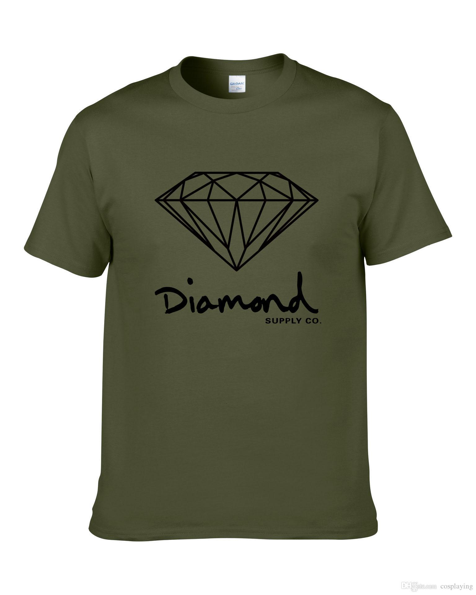 Diamond Supply Co gedruckt T-Shirt Herrenmode Marke Design Kleidung MAle South Coast Harajuku Skate Hip Hop Kurzarm-Sportbekleidung