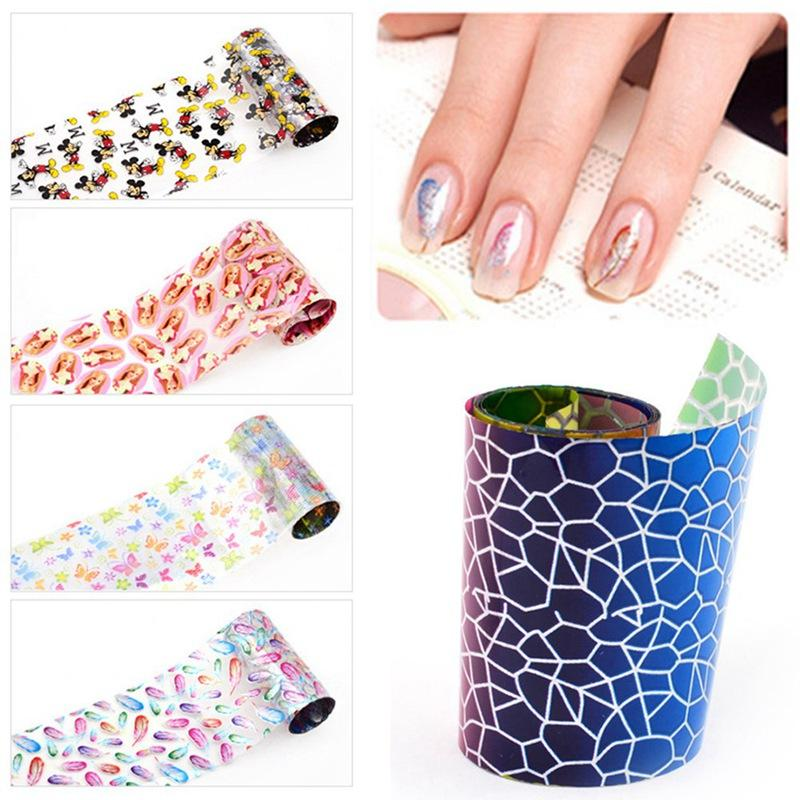 Butterfly Flower Starry Nail Foil Colorful Floral PatternTransfer ...