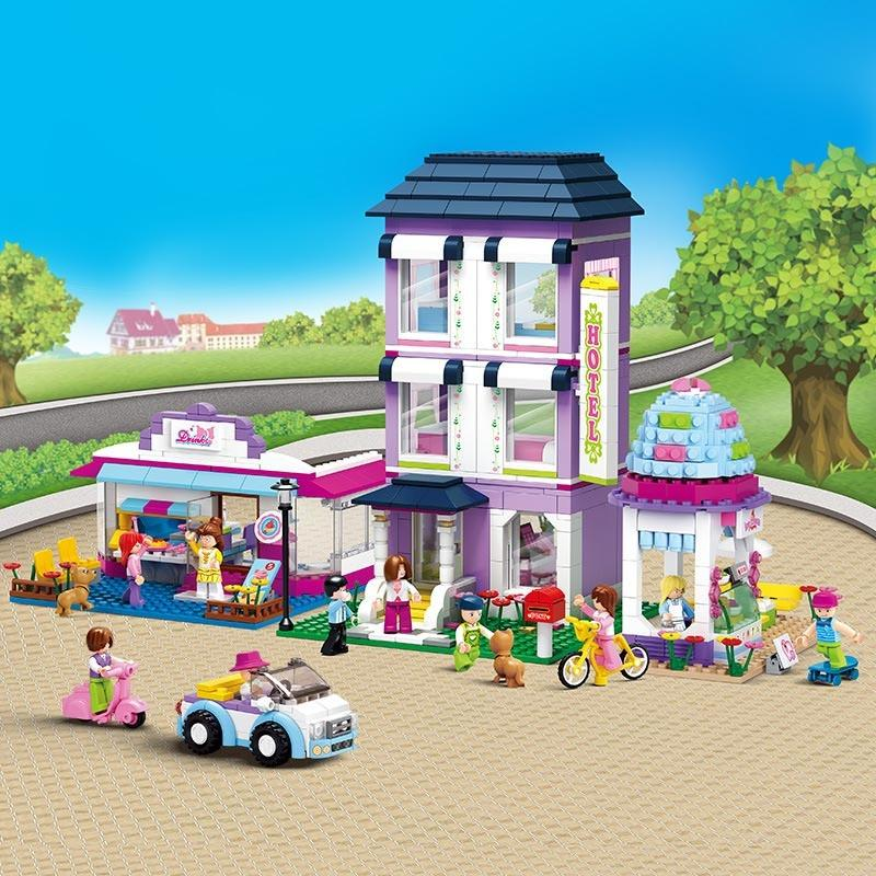 Model building kits City street compatible with lepin city 3D blocks  Educational model & building toys for children