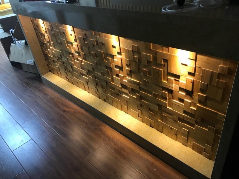 Telhas de mosaico de madeira 3D interior Decor azulejos de construção de materiais de construção em casa do hotel bar restaurante design mosaicos padrões de mosaicos de madeira natural
