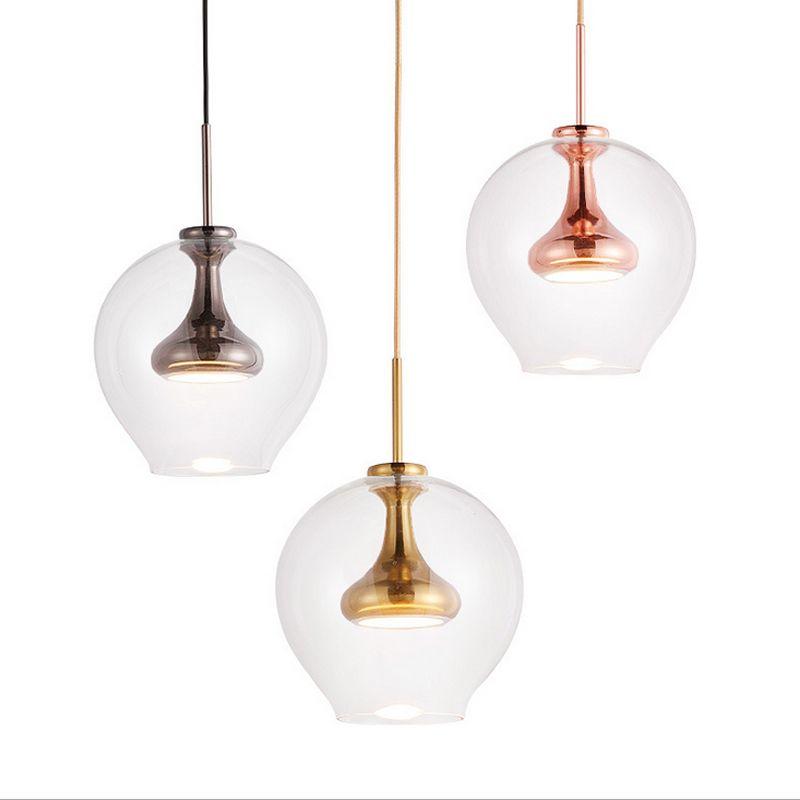 Chandeliers Led Chandelier Loft Deco Fixtures Glass Suspension Luminaires Nordic Hanging Lights Bedroom Lighting Living Room Suspended Lamps Large Assortment