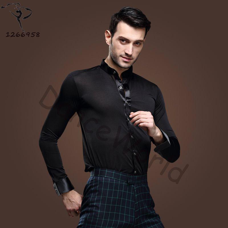 e0d23d5d2ca9d 2018 New Men Ballroom Dance Tops Red Black White Latin Shirt Clothing For  Dance Cha Cha Rumba Samba Jazz Dancewear Top DQ6046 Ballroom Dance Tops  Ballroom ...