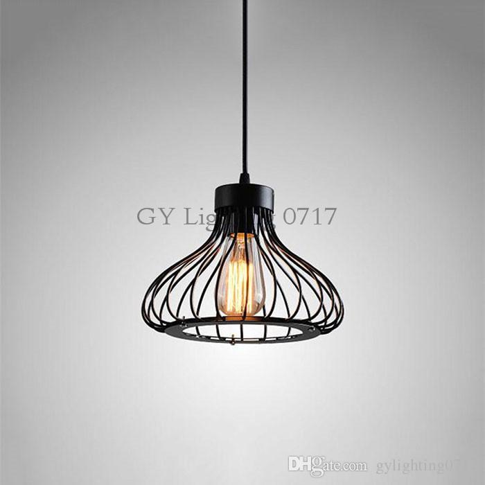 wire cage light fixtures metal basket light minimalism hanging chandelier light black wire cage lamp lighting lustre de cristal sala home restaurant fixtures cylinder pendant plug