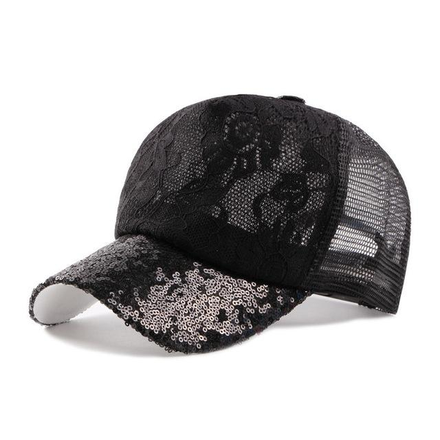 Women S Lace Baseball Caps Summer Sequins Breathable Mesh Rose Flower  Pattern Hat Gorras Cap Snapback Girls Sports Shade Hats Men Hats Zephyr Hats  From Top7 ... 13655d76744