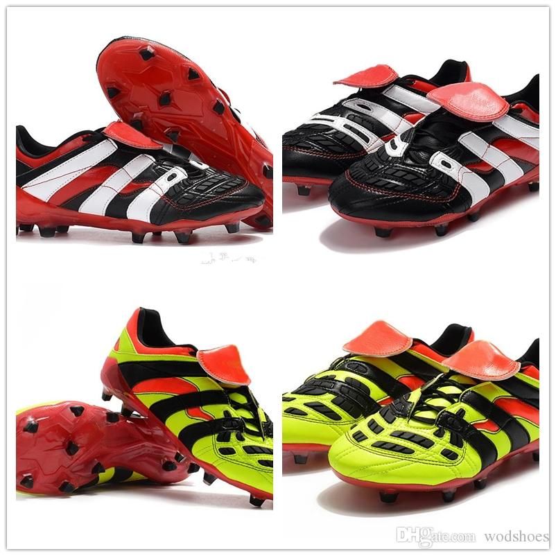 15e7d382469 2019 2018 Predator Accelerator Electricity 98 FG DB Dream Back TR Becomes  1998 98 Men Soccer Shoes Cleats Football Boots Size US6.5 US11 From  Wodshoes