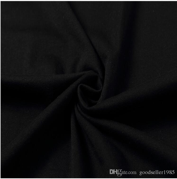Blanco Marca Hombres Mujeres manga corta camiseta remache pequeño monstruo ojos graciosos imprimir algodón de alta calidad hombres camiseta fresca hip hop tops tees