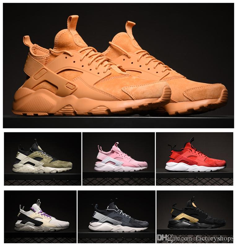 new concept df496 4c759 australia nike air huarache olive 9bcd7 4afb2  france wholesale 2018 huarache  ultra id wheats yellow army sports running shoes for women mens huaraches