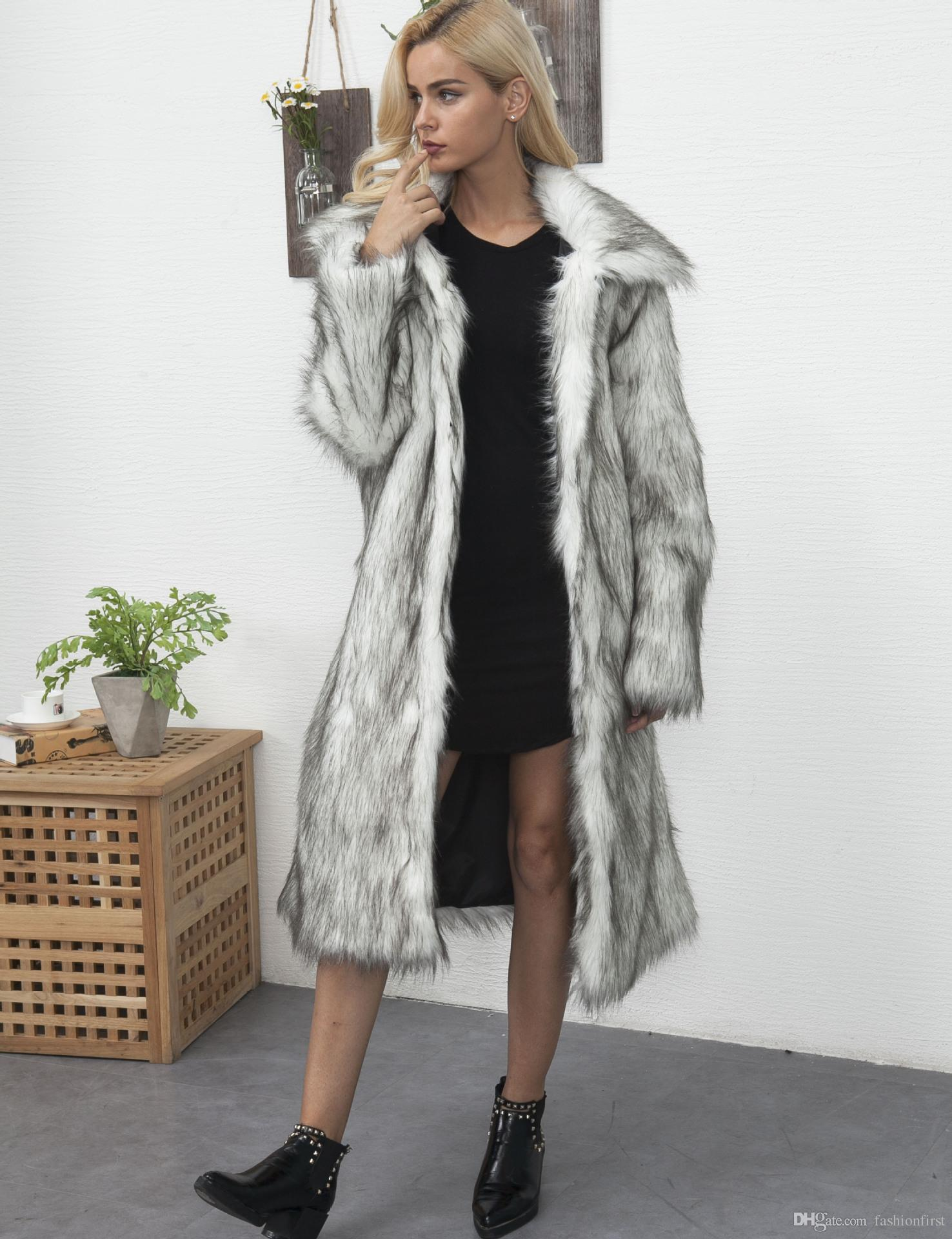 b1434974f2d 2019 Stylish Women Fur Coat Shop Fake Fur Jackets Warm Oversized Fashion Faux  Fur Coats Fashion Womens Coat From Fashionfirst