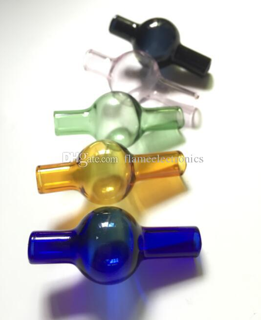 Universal Colored Glass Bubble Carb Cap 20mm Round Ball Dome for Glass Water Pipes, XL Thick Quartz Thermal Banger Nails Hookah Accessories
