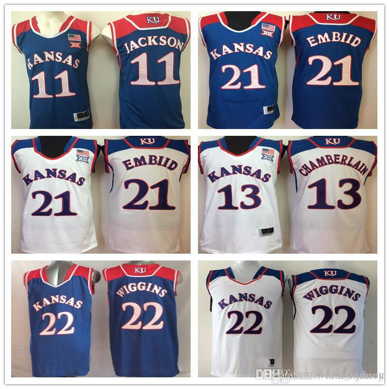 00ceefbd05a ... where can i buy kansas jayhawks 13 wilt chamberlain 21 joel embiid 22  andrew wiggins 11