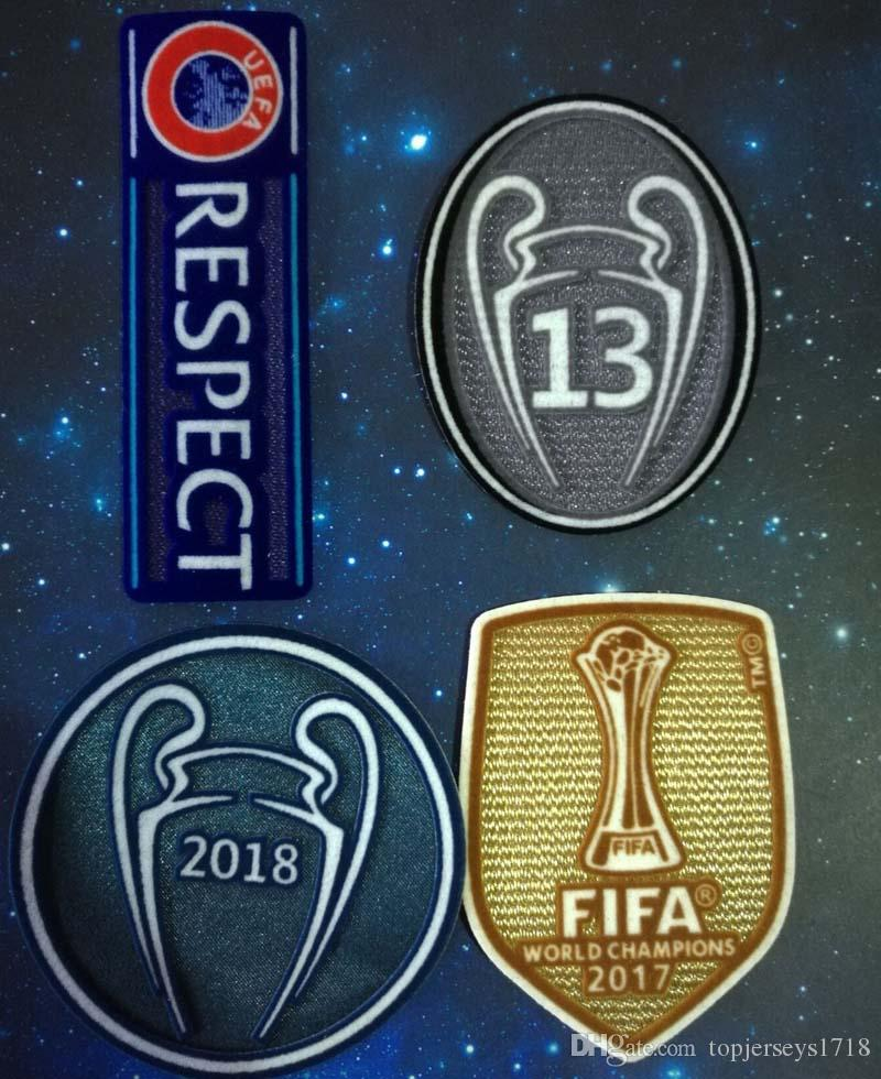 4 Pics A 2018+13+Respect+Champions League Patch Football Print Patches  Badges 3f3ee41aa3cf5