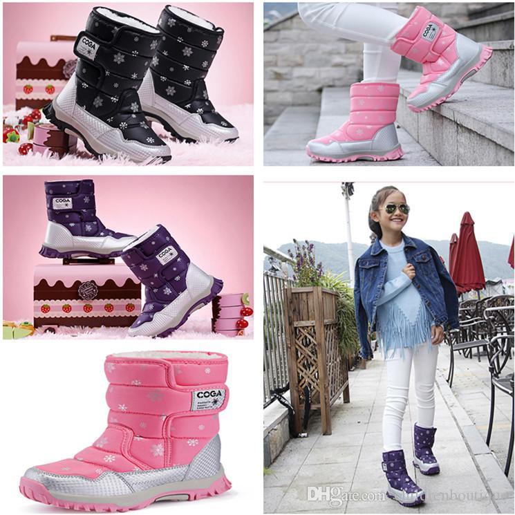 Leoie Newborn Baby Cute Cartoon Bear Warm Shoes Winter Soft Snow Boots Prewalker