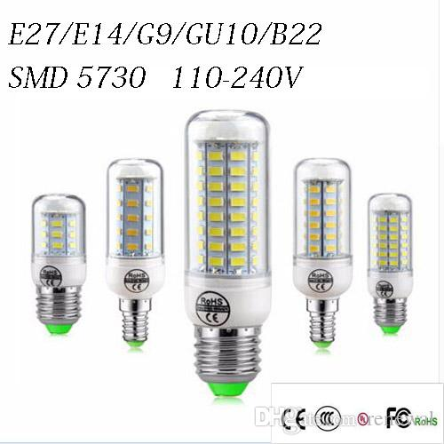 Grosshandel Smd5730 E27 Gu10 B22 E14 G9 Led Lampe 7 Watt 12 Watt 15