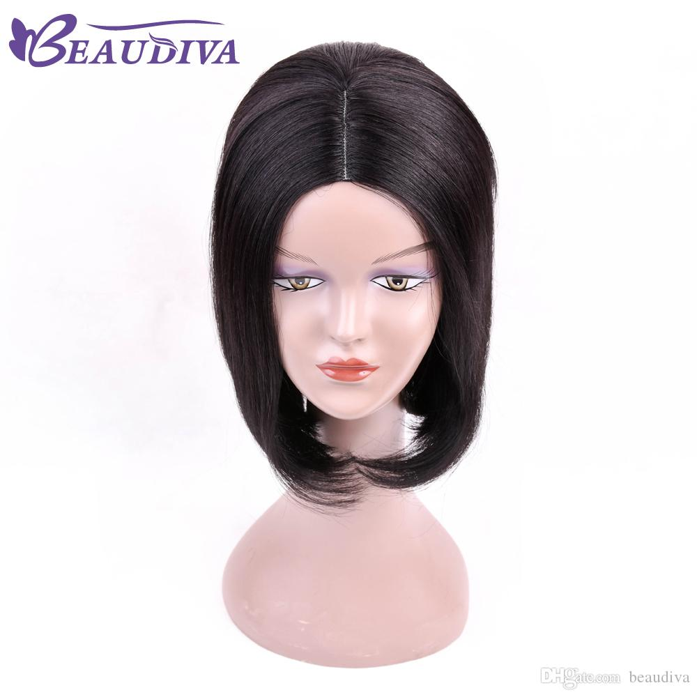 Beau Hair 13*4 Lace Front Human Hair Wigs Middle Part Bob Wig Lace Frontal Wig Malaysian Straight Non Remy Natural Color Hair Human Hair Lace Wigs Lace Wigs
