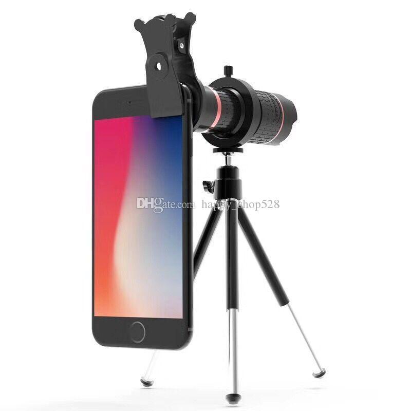 14X Zoom Optical camera Lens Mobile Phone Telescope smartphone Universal Clip Magnifier+Tripod+Clip Zoom cellphone lens conversionlens 4k