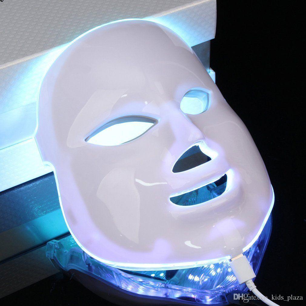 Coreano i LED Photodynamic Facial Mask Mask Cura Anti-Acne Skin Stringing Ringiovanimento rughe Remover Attrezzature di bellezza