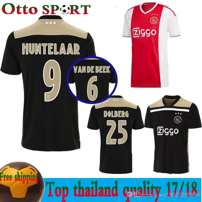628010a291d Thaiand Quality 18 19 AJAX Soccer Jersey 2018 2019 HOME AWAY ...
