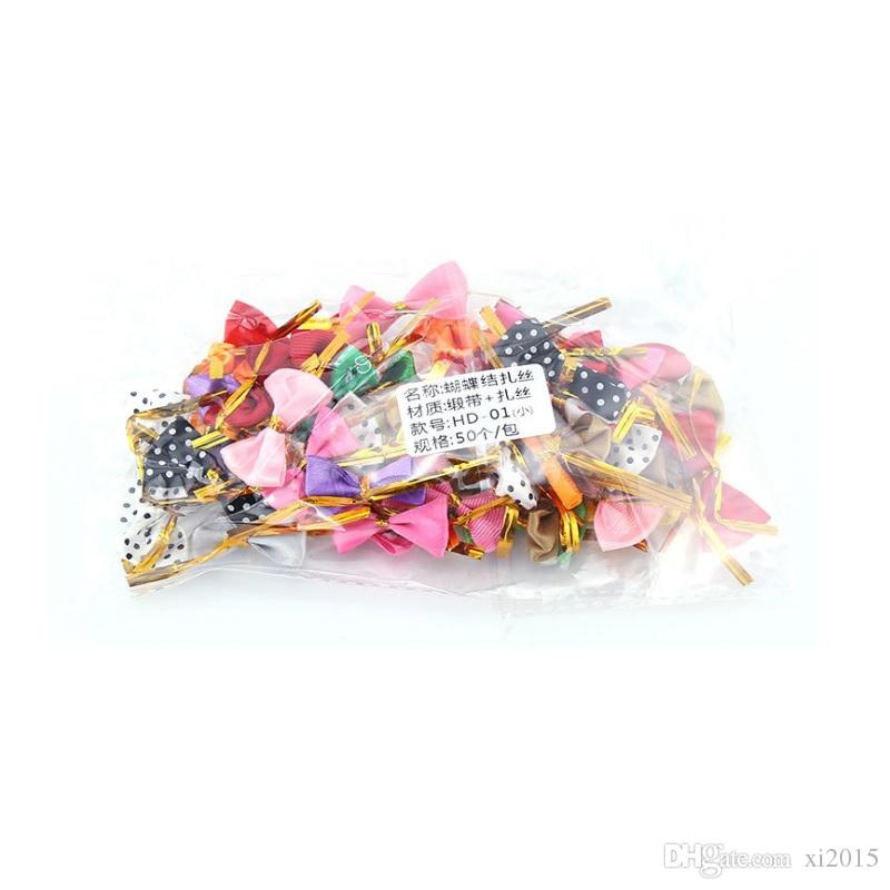 cookies bread packing bag DIY bowknot sealing wire lollipop cake pops packing ties baking supplies wen5764