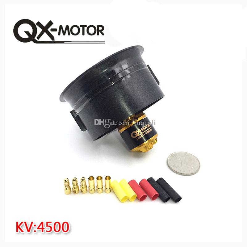 QX-Motor Electric Ducted Fan QF2611 4500KV Brushless Motor 64MM EDF 5 Blades Units for RC Drone Accessories Parts