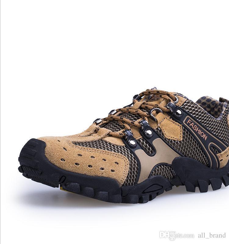 Hommes Suède Perméable À L'air Anti-collision Chaussures De Sport En Plein Air Décontracté LRCbHxbUo