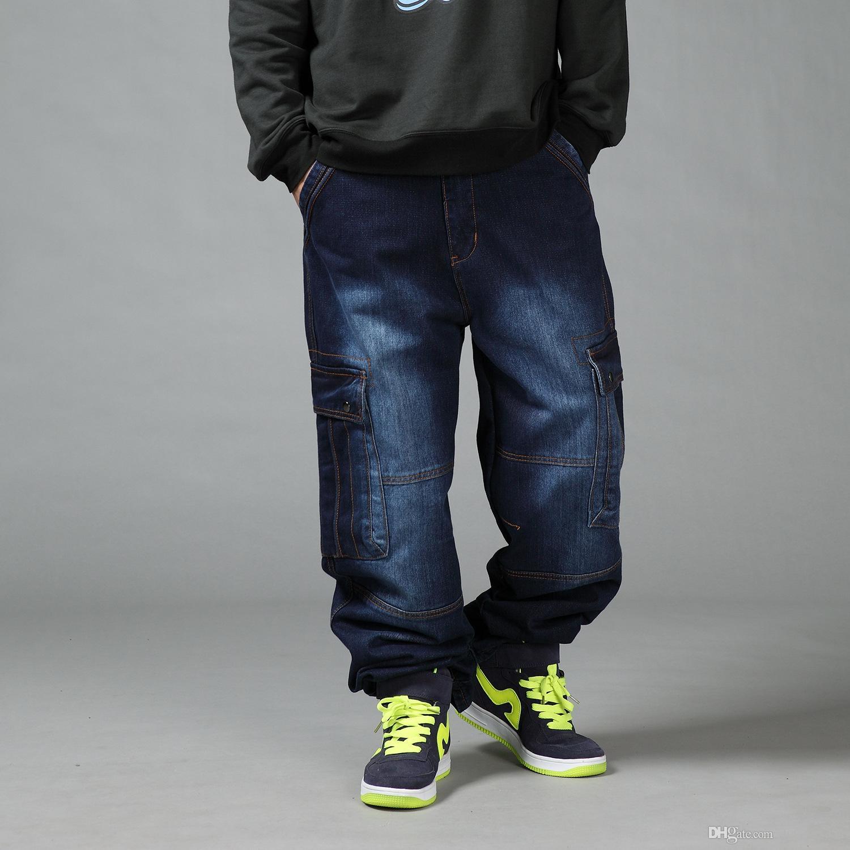 a2d7a4742a Compre Pantalones Vaqueros Flojos De Los Hombres Del Estilo Japonés Con Los  Bolsillos Del Cargo Hombres Pantalones Caminantes Del Hip Hop Del Otoño  Invierno ...
