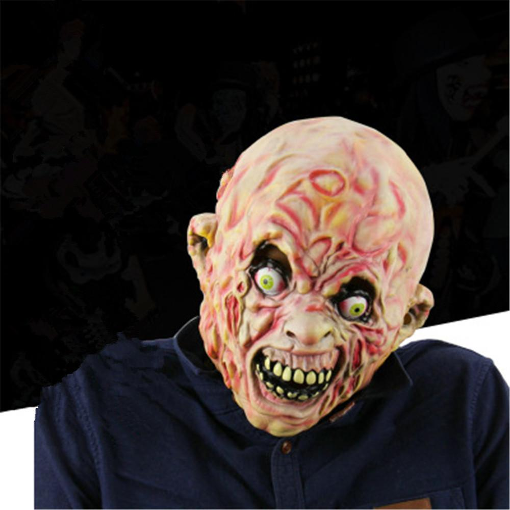 1PC Party Masks halloween scary face mask Carrion Zombie Latex Mask Halloween Horror Haunted House Mood Mask halloween for adult