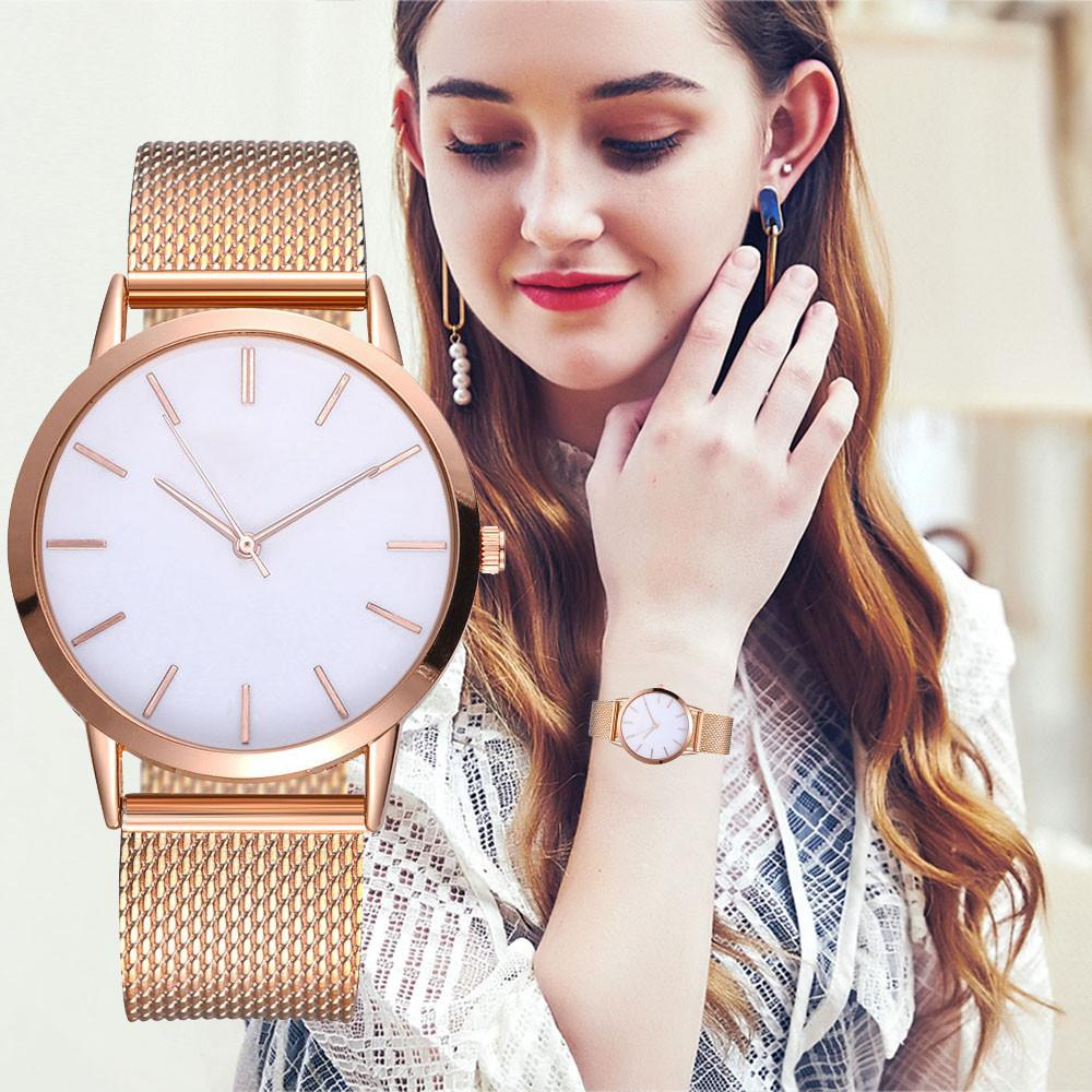fa6b56e16c Montre Femme Luxury Women Watches Simple Ladies Steel Watch Rose Gold  Elegant Minimalism Casual Black Female Clock for Girl 2018