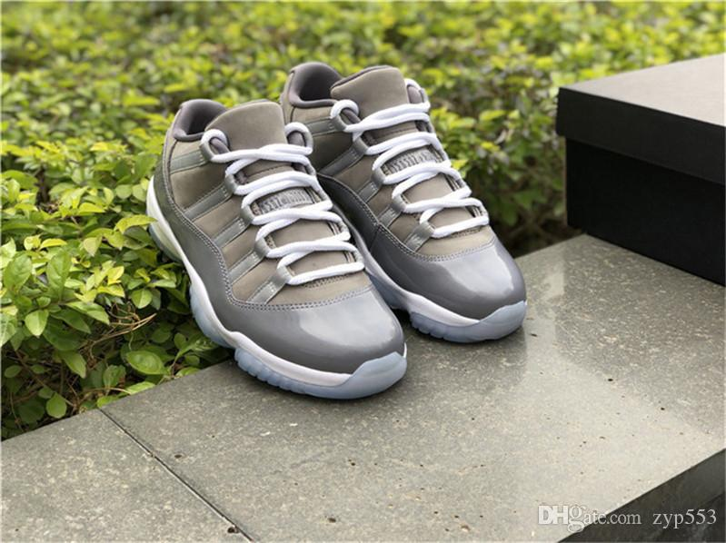 7685b884ea3 Release 2019 11 Low Cool Grey 11s Basketball Shoes Sneakers For Men