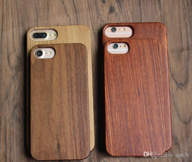 For Iphone 8 7 6 6s plus Universal Custom Wood Case Creative Cell phone Mobile Phone Cover Wooden Bamboo Cases For Apple Iphone 7 8 6 6s