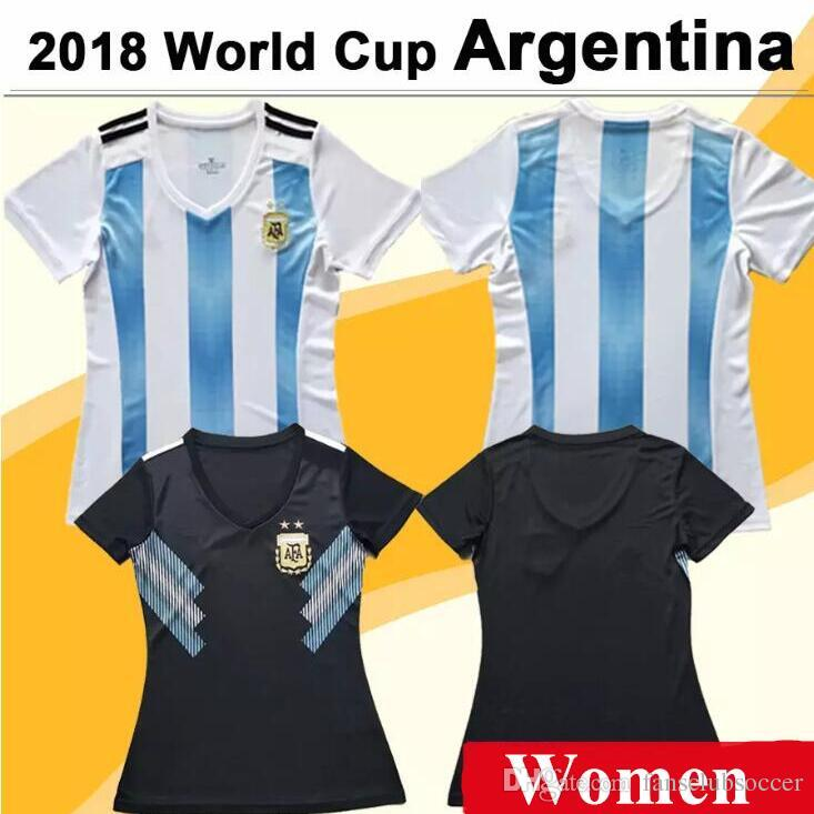 3634d3be7684 2018 World Cup MESSI Women Soccer Jersey Argentina National Team DI ...