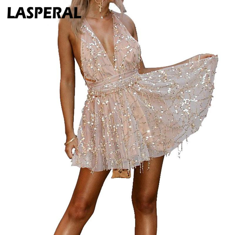 2019 Lasperal Sexy Dresses Women New Arrivals Fashion Backless
