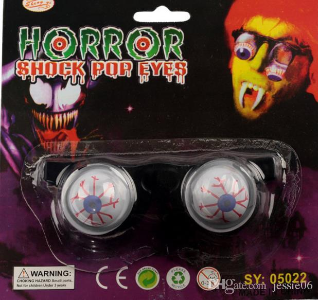 Halloween Horror Plastic Joke Shock Pop Scary Terror Dropping Eyeballs glass Funny Party Toy For Child Adult Christmas Birthday favors gift