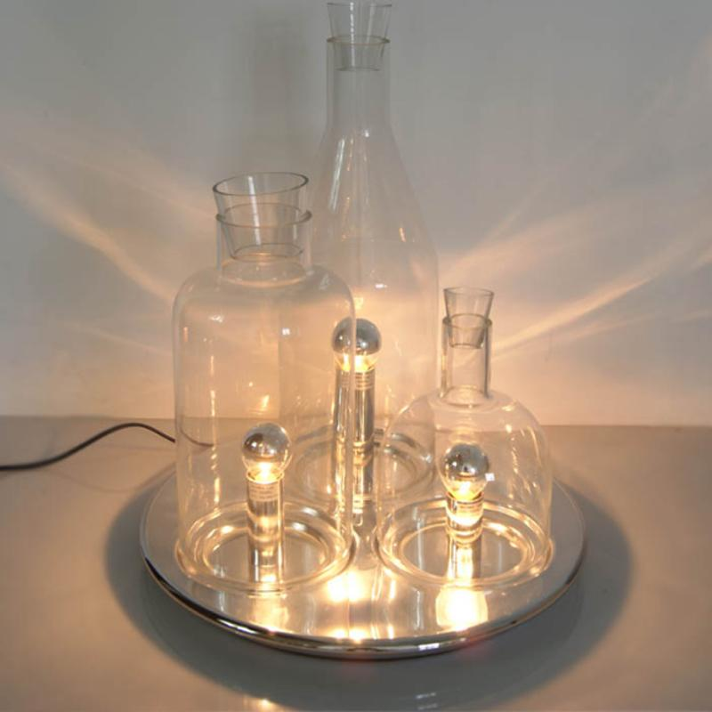 Café Table Lampe Étude Chevet En Luminaire Mode Personnalité De Moderne Bouteille Minimaliste Led Verre Chambre Spécial uPXwOkZTi