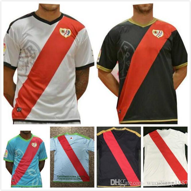 81c19a1fd8 Compre 2018 2019 Rayo Vallecano Camisola De Futebol TOMAS BAIANO F. BELTRAN  DORADO EMBARBA MORENO TREJO Terceiro 18 19 TRASHORRAS Camisa De Futebol De  ...