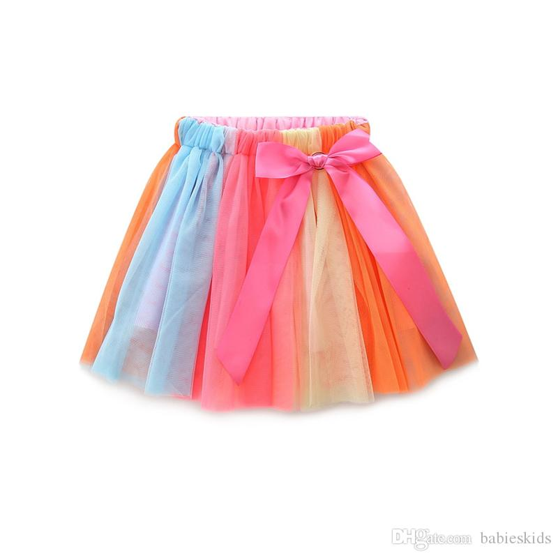 New In Fashion Baby Kids Clothing Sets Toddler Clothing Lovely T-shirt Colorful Tutu Skirt Dress Outfit Cotton Cute Girl Dress