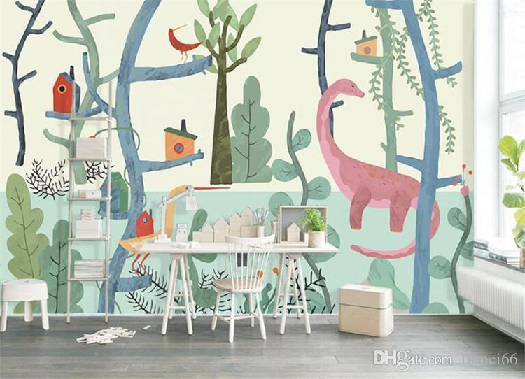 Painted Forest Cute 3d Cartoon Murals 3d Photo Murals Wallpaper For