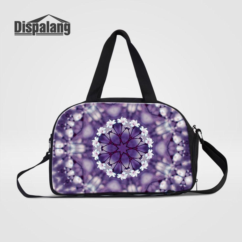 Dispalang Large Capacity Women Travel Bag Flower Print Casual ... b93632e081ad1