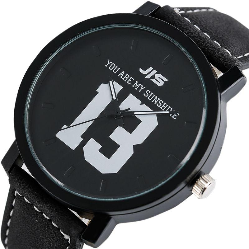 9f78063c8ca8 Compre USTED ES MI TODO Serie Relojes Para Hombres JIS Unique Number 13 14  Quartz Wriswatch Jóvenes Moda Vestido Casual Reloj San Valentín Regalos A   6.53 ...